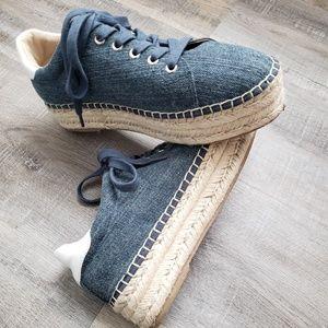 Attitude Denim Platform Sneaker | Poshmark